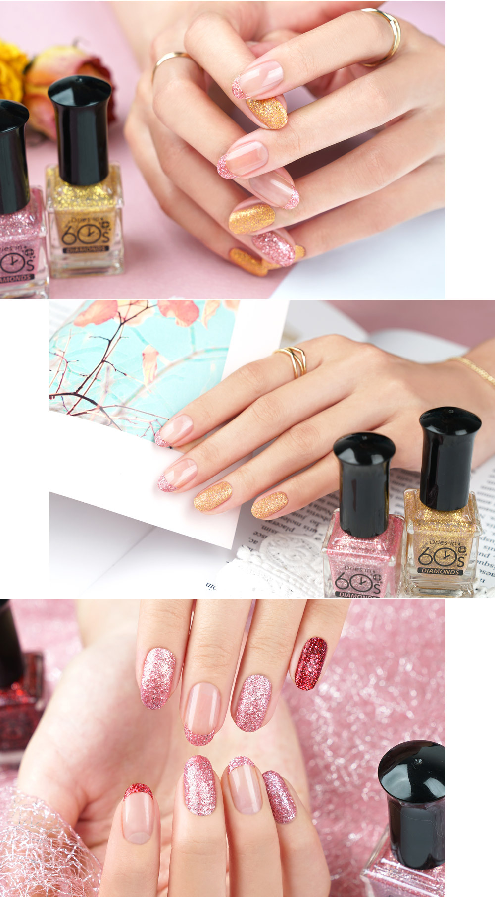 Korean 60 Seconds Nail Polish - Diamond Pearl Nail Polish