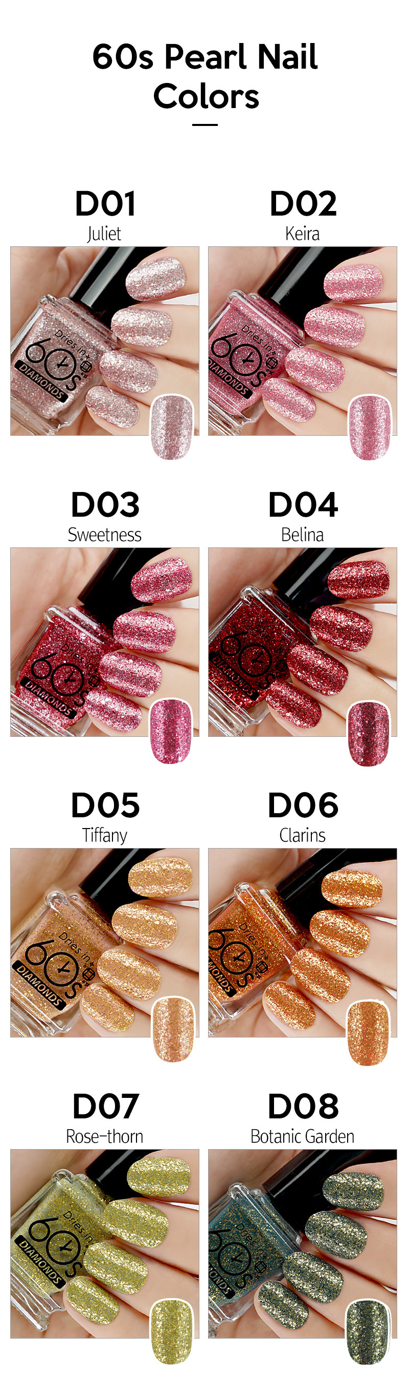 60 Seconds Nail Polish - Diamond Pearl Nail Polish Feature