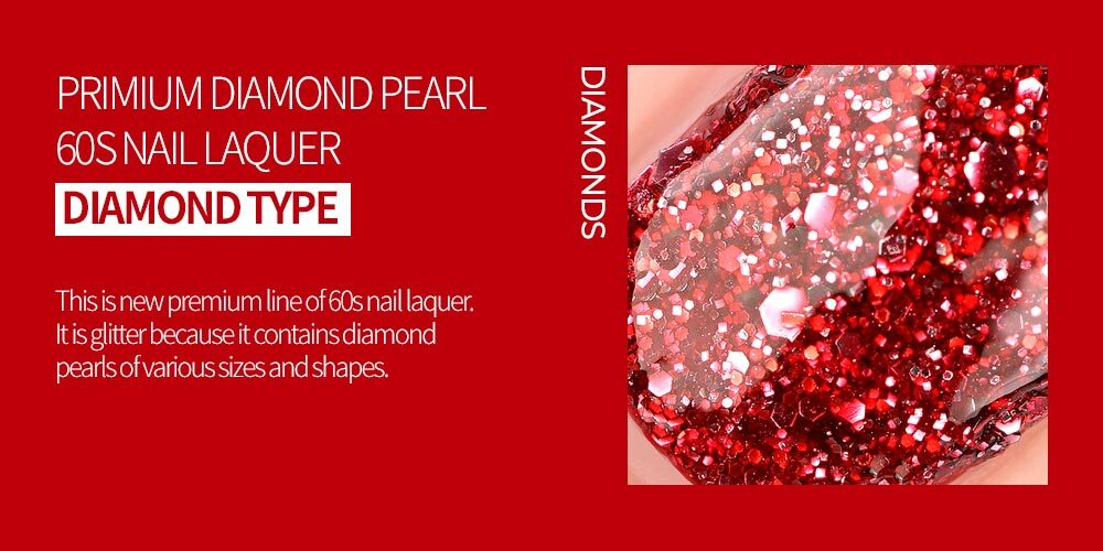 60 Seconds Nail Polish - Diamond Pearl Nail Polish