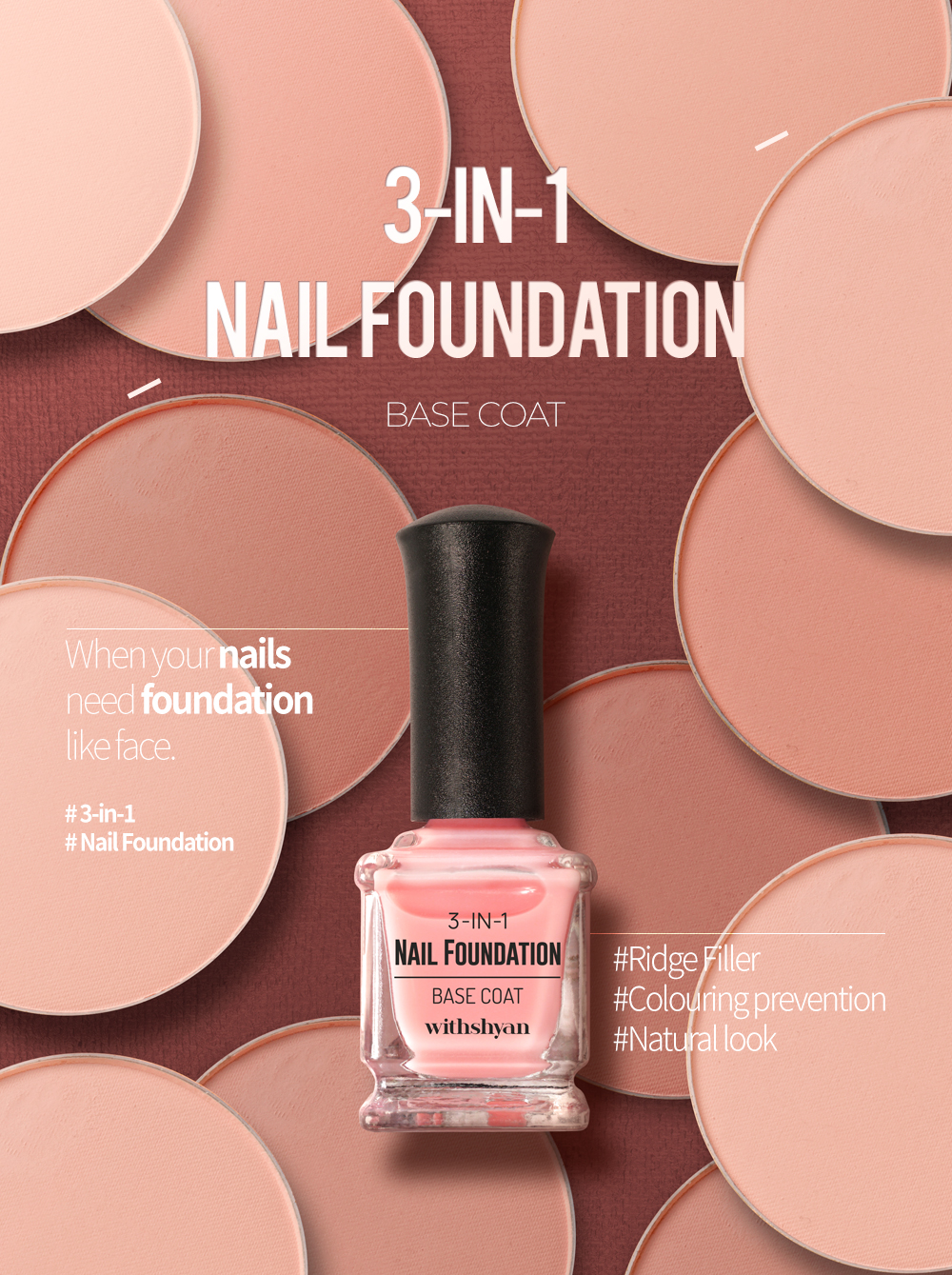 3-in-1 Nail Foundation & Coat