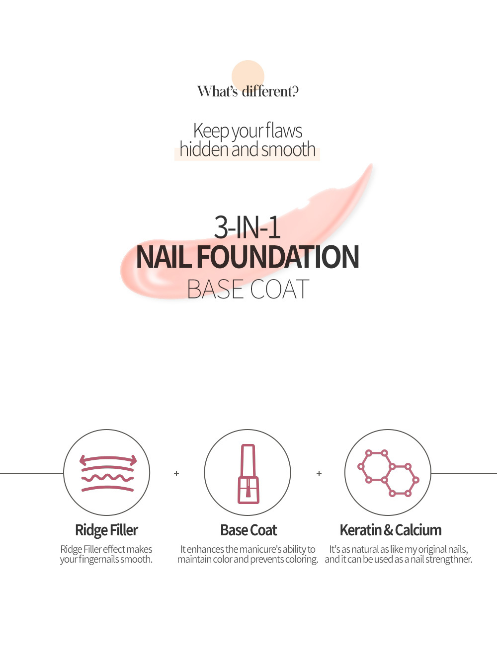 Feature of 3-in-1 Nail Foundation