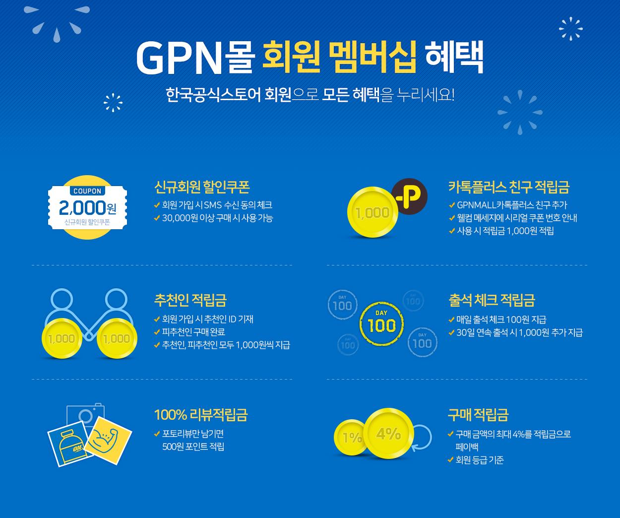 옵티멈뉴트리션 BSN 신타6 한국공식스토어 GPN몰 회원가입혜택배너