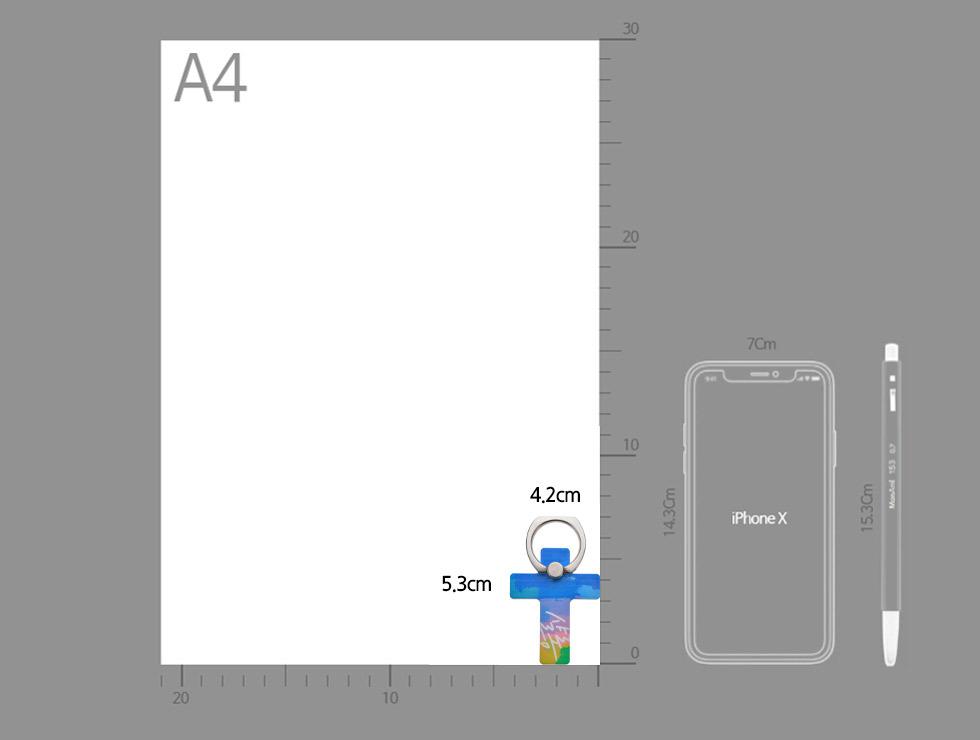 스마트폰 거치대 십자가링 3탄 크기