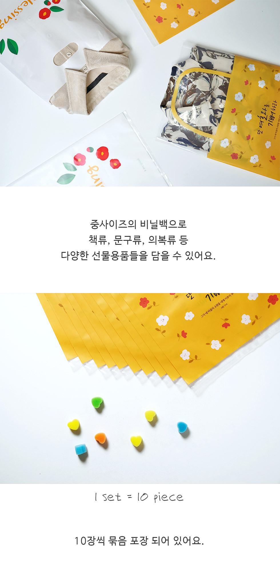 크리스챤 비닐백 비닐쇼핑백 중 2종 - 디테일3 1세트 10장