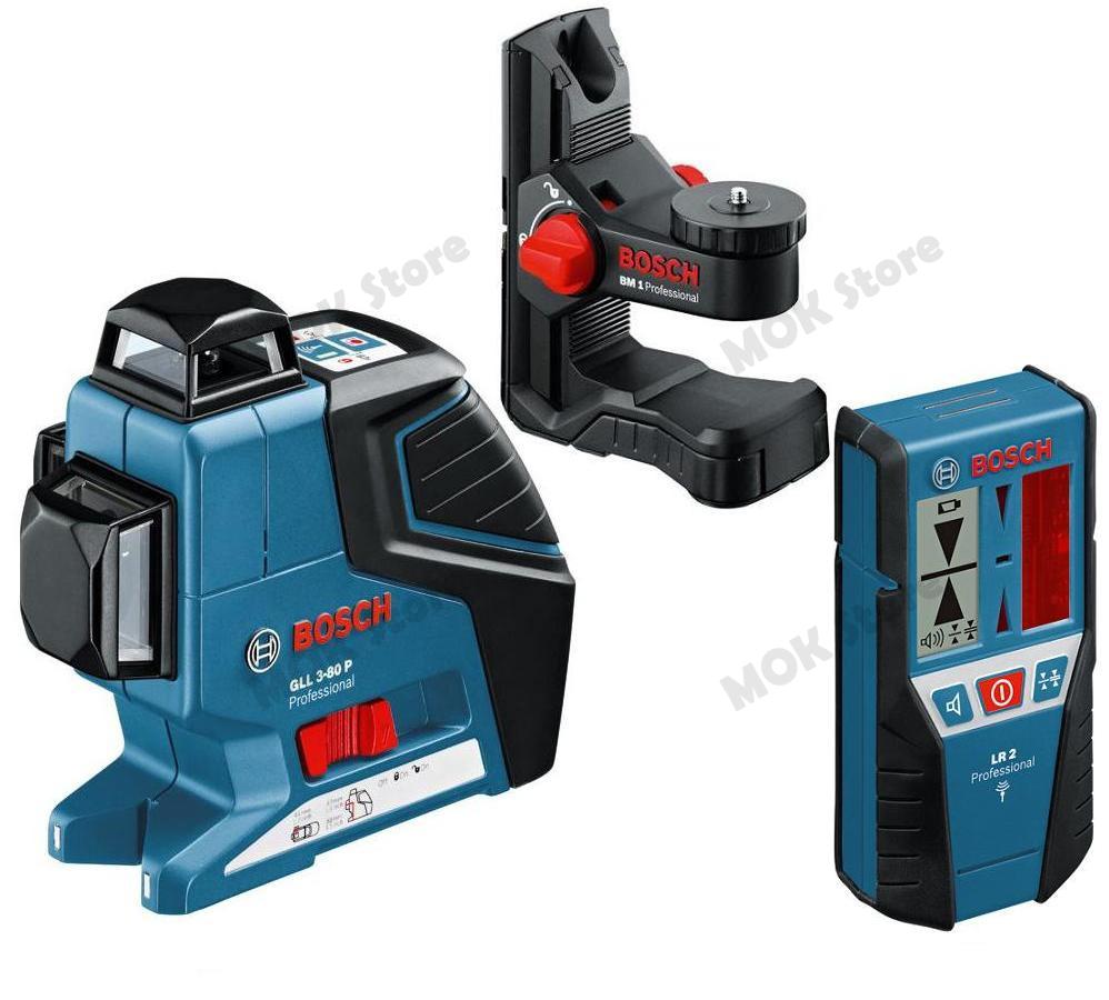 Bosch gll3 80p leveling alignment line laser bm1 holder for Trepied pour laser bosch