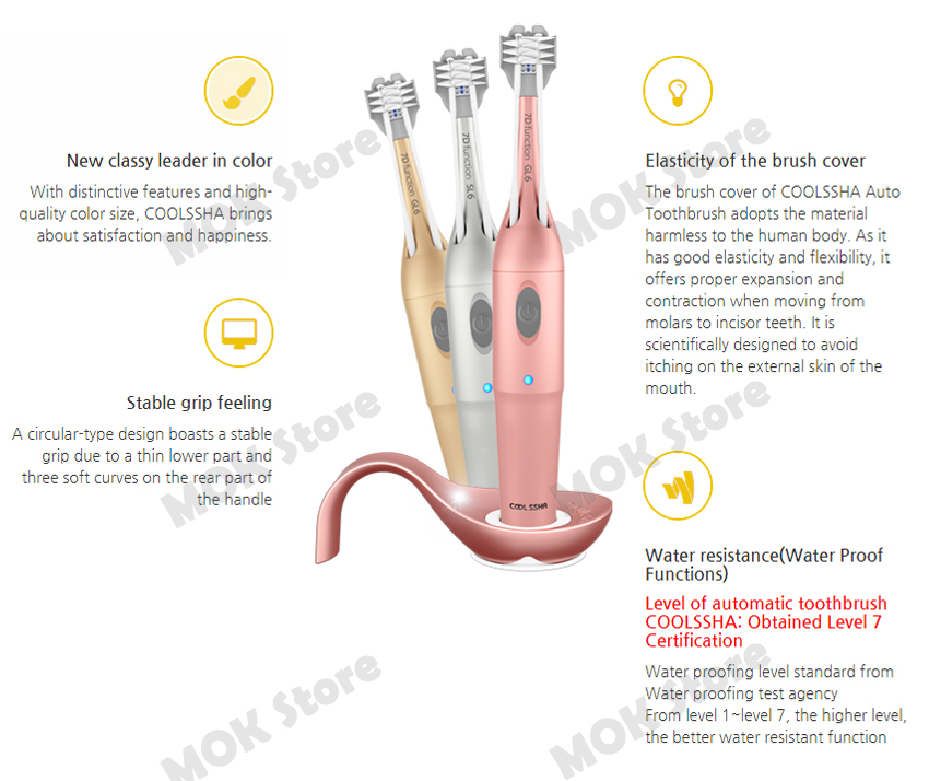 Cool Ssha 7d Premium Auto Toothbrush Korea Technology 3