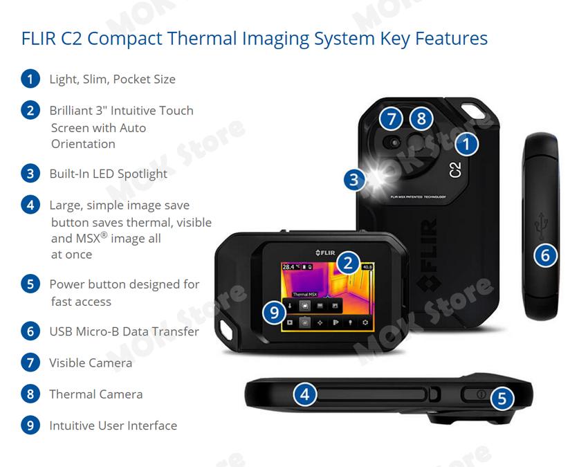 Flir C2 Infrared Ir Camera Compact Pocket Portable Thermal