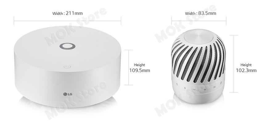 LG  PJ9 Levitation Portable Bluetooth Speaker Woofer Station
