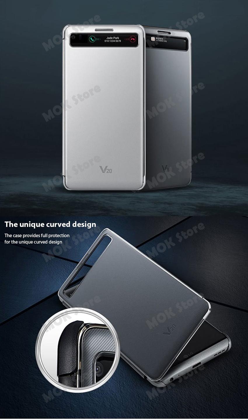 official photos 08d43 31fed Details about LG V20 CFV-260 Genuine Quick Cover Flip Case 2 Color - Silver  / Titan Black