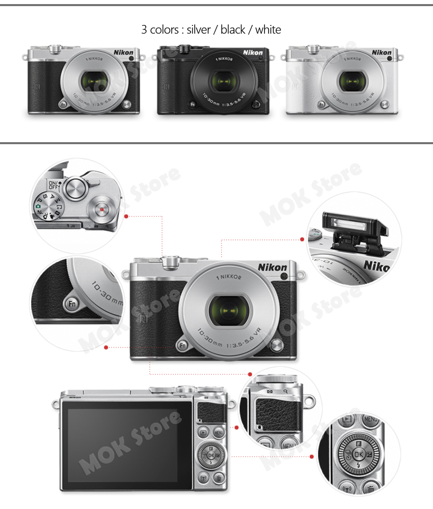 Nikon 1 J5 Mirrorless Digital Camera With 10 30mm F35 56 Pd Zoom Kit Kamera Welcome To My Store Release New Products