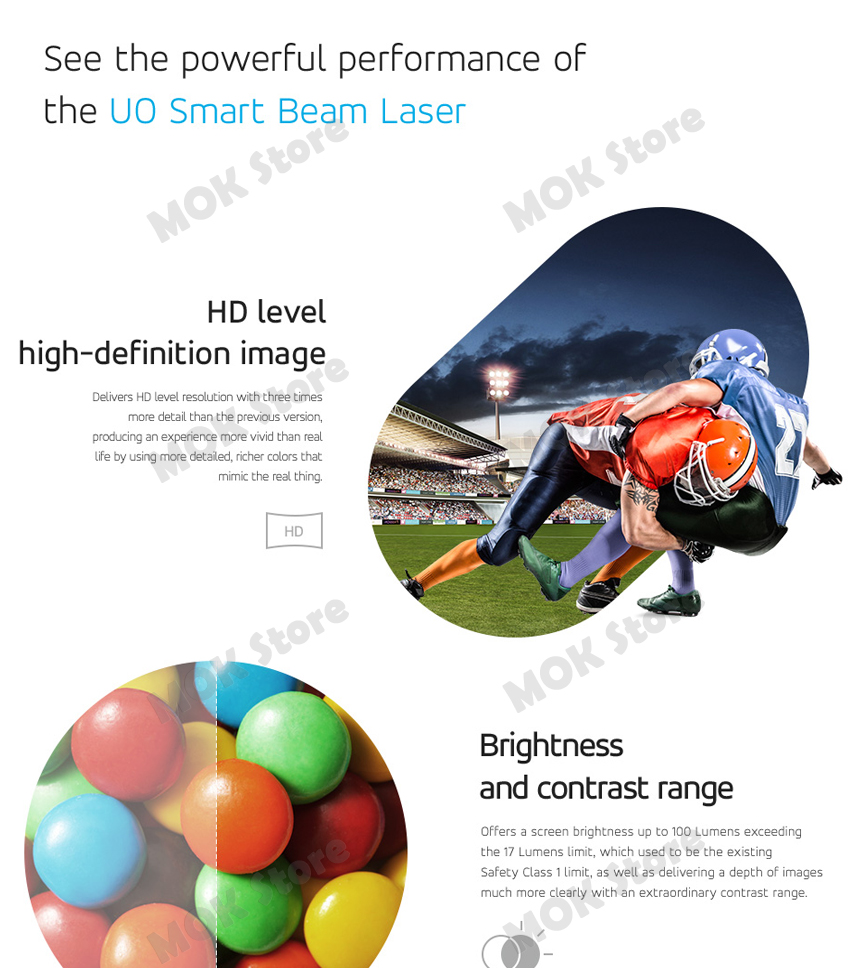 Sk Uo Smart Beam Laser Mini Pico Projector Lb Kh6cb