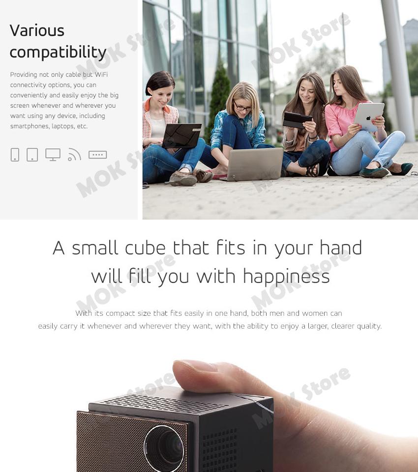sk uo smart beam laser mini pico projector lb