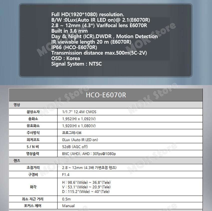 Details about Samsung HCO-E6070R 2 MP Vari Focal Bullet ADH NTSC CCTV Camera