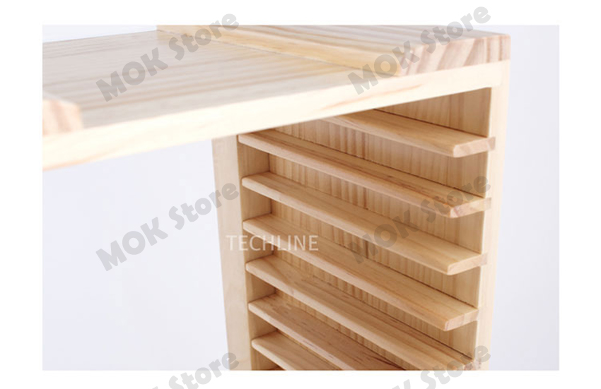Consoles games dvd real wood storage stand wooden rack