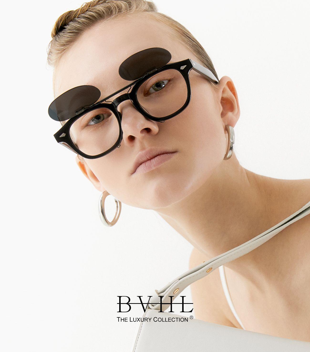 비브이에이치(BVH EYEWEAR) BETHEL (BLACK) 3 size 블루라이트 차단 안경  CLIP-ON 뿔테