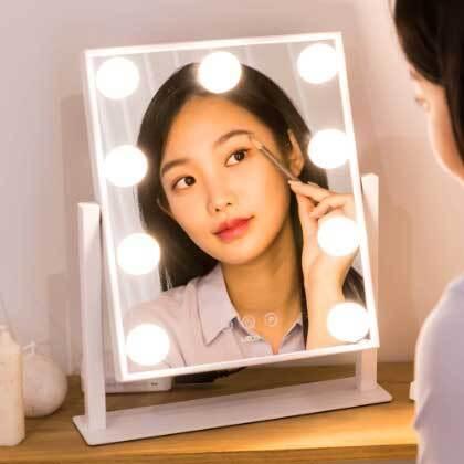 레토 헐리우드 메이크업 LED 일체형 조명 화장대 거울 LLM-U02 이미지
