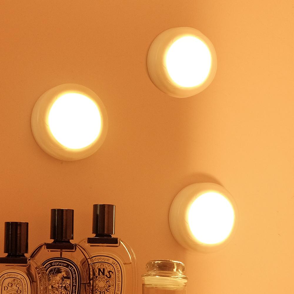 레토 LED조명 퍽 무드등 3개 세트 + 리모컨 LML-B07S 이미지