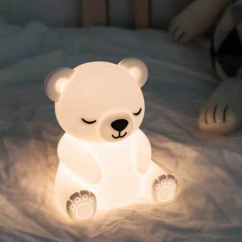 레토 충전식 무선 실리콘 미니 LED 동물 무드등 LML-B08 (곰돌이) 이미지