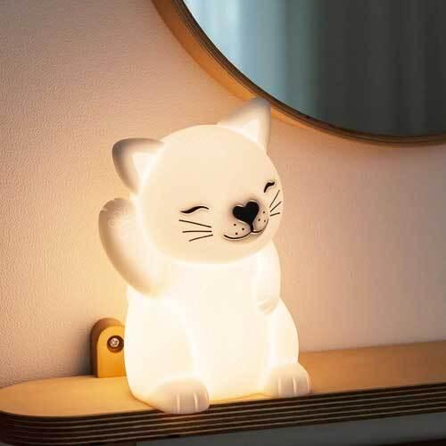 레토 충전식 무선 실리콘 미니 LED 동물 무드등 LML-C07 (고양이) 이미지