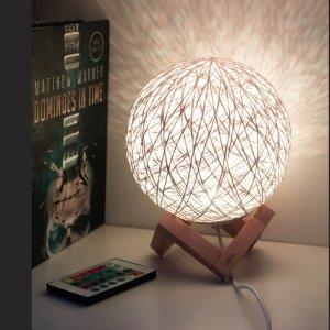 레토 16색 LED 공간조명 라탄조명 무드등 LML-RM21, 리모컨 포함 이미지