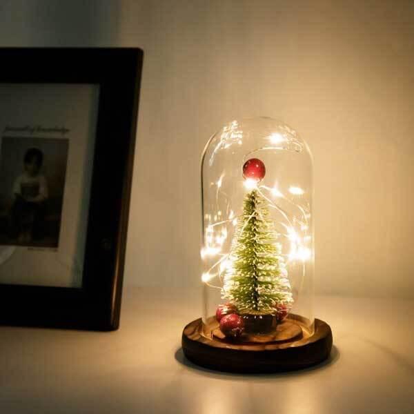 레토 LED 유리돔 크리스마스 트리 무드등 LML-TD01 이미지