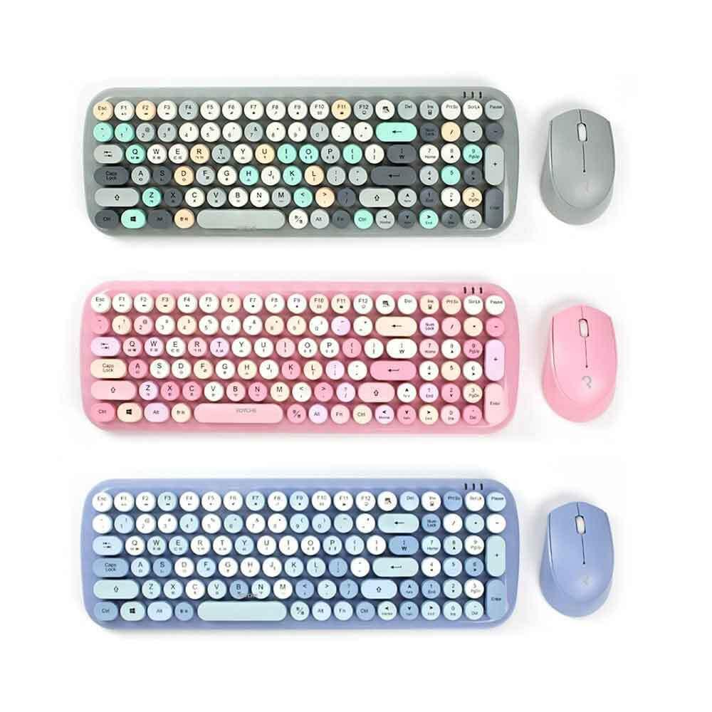 로이체 무선 키보드 + 마우스 세트RMK-5000 블루, 핑크, 그레이 택 1 이미지
