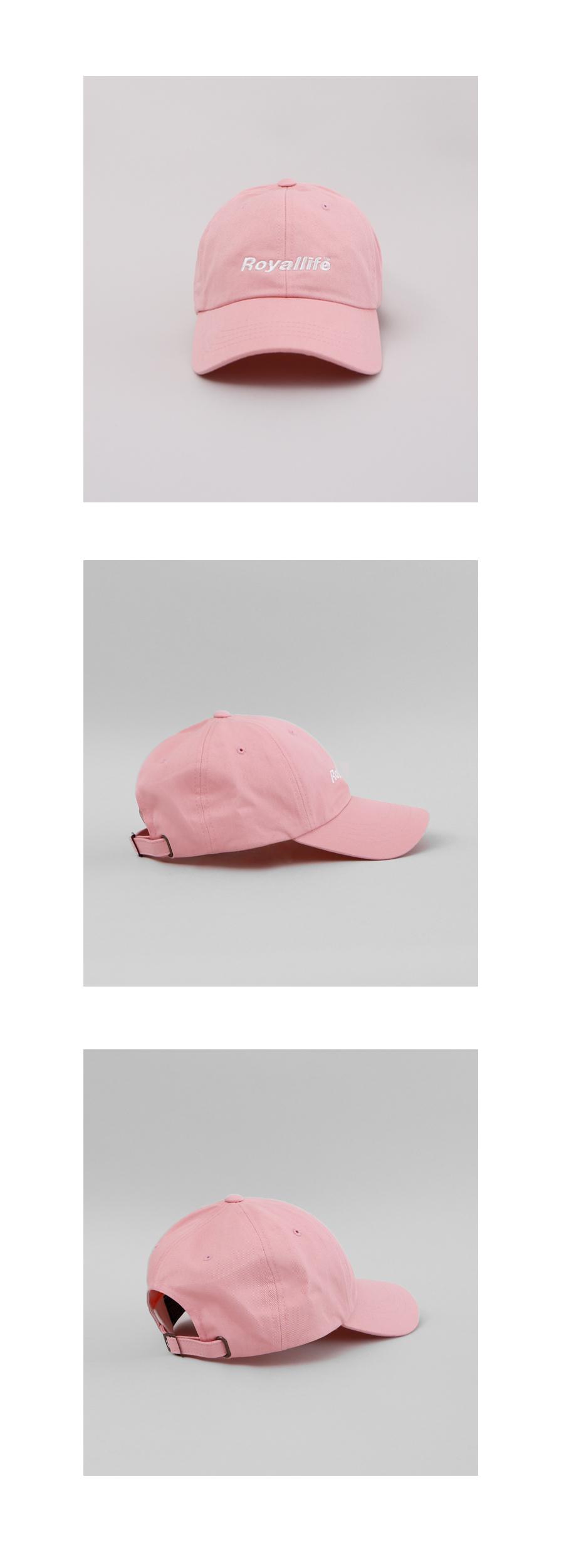 로얄라이프(ROYALLIFE) RLBC500 오리지널 로고 볼 캡 - 핑크